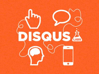 Disqus Labs orange texture illustration icons disqus