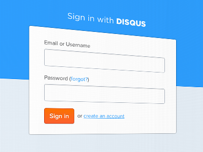 Sign In Dribbble login interface ui simple clean