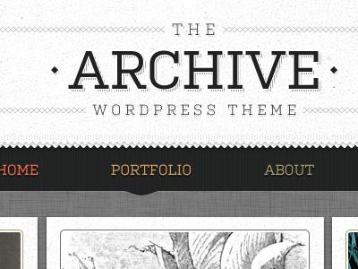 The Archive Wordpress Theme by Joshua Sortino - Dribbble
