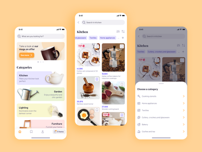 Categories in an e-commerce mobile app design home shop uiux ux ui homeicons tabbar tag bottomsheet card ios ecommerce shop shop design categories ecommerce app