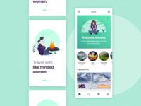 Travel app for women