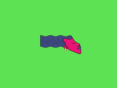 Breezy branding ui neon 90s skate surf icon geometric vector houston illustration
