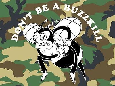 Buzz Kill product character design design tshirt apparel illustration