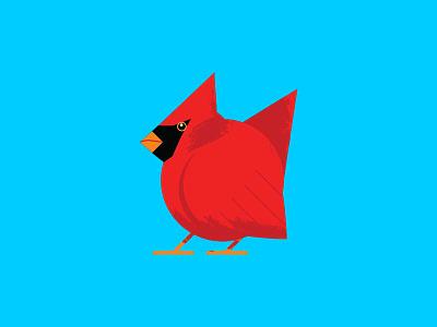 Cardinal Illustration geometric bird wildlife illustration