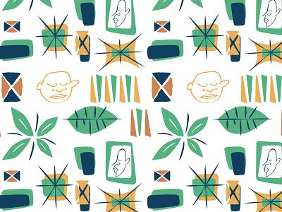 Tiki Pattern geometric illustration pattern tiki