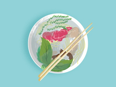 Pho Illo editorial food pho illustration