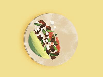 Tacos! minimal texture houston design illustration