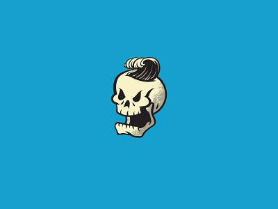 Breakin Waves logo vector houston skull logo illustration cruise surf waves skulls