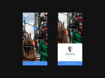 Sending files app minimalist white light design mobile app design profile transparent camera mobile design mobile uiux mobile ux mobile app mobile ui mobile augmented reality ar