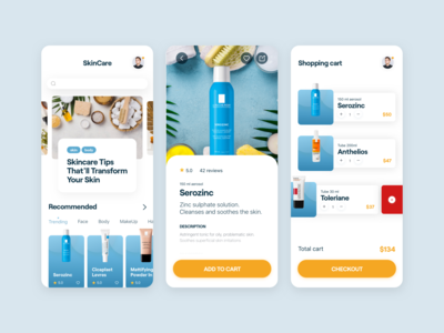 Dermatology application design mobile uiux mobile ux mobile ui mobile app design mobile app mobile dermatology shopping cart shopping bag shopping app shopping shop purchase
