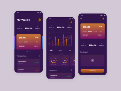 Finance application mobile design dark ui dark app dark theme dark statistics finance cards design card design mobile uiux mobile ux mobile ui mobile app design mobile app mobile