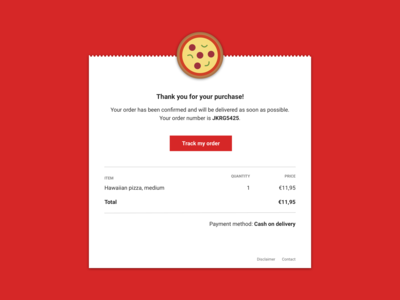 Daily UI 017: Email Receipt