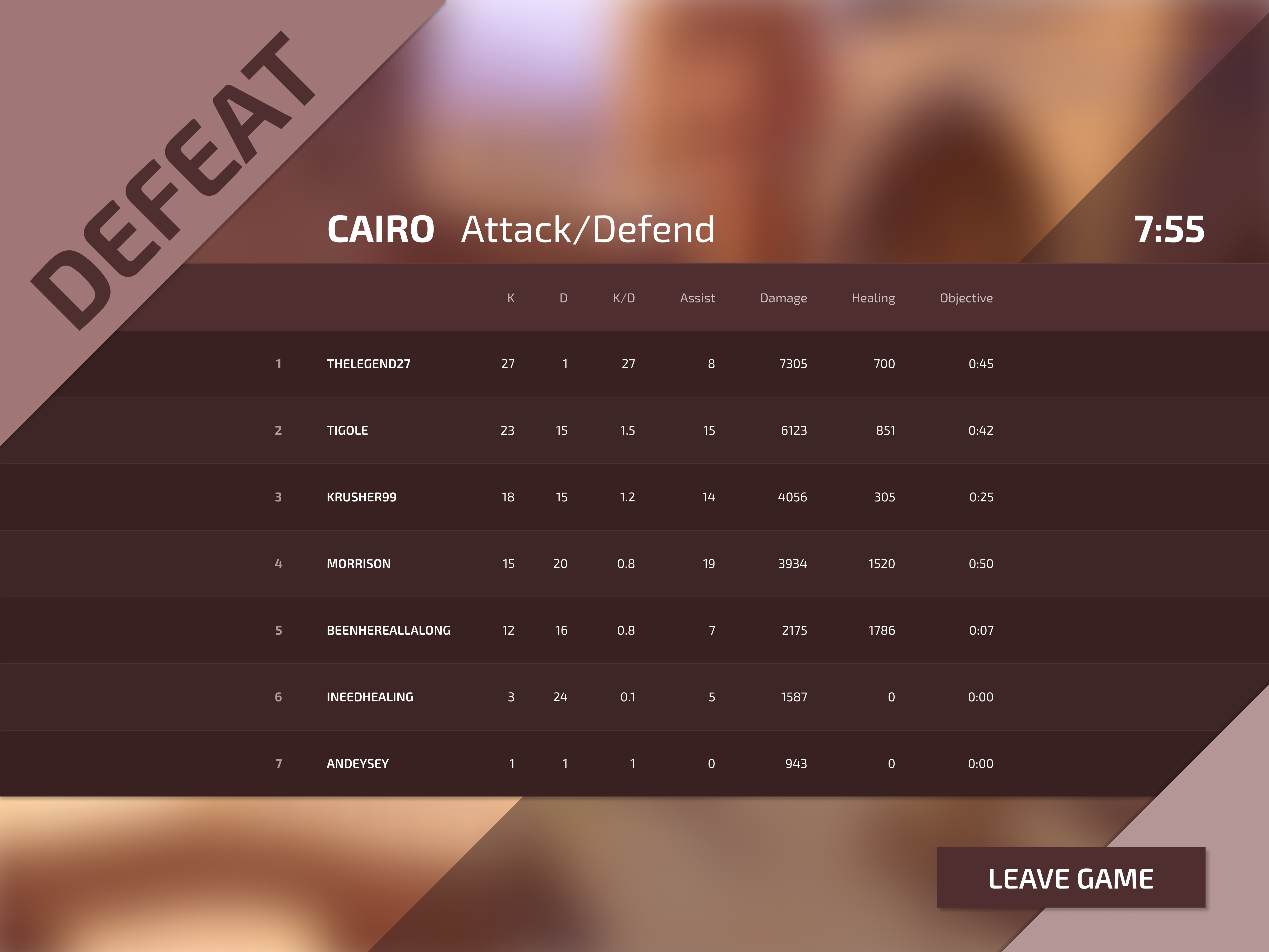 Daily ui 019 defeat