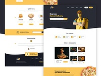 Food Delivery Landing Template webdesign foodie food and drink food website ux landingpage design landing clean web ui