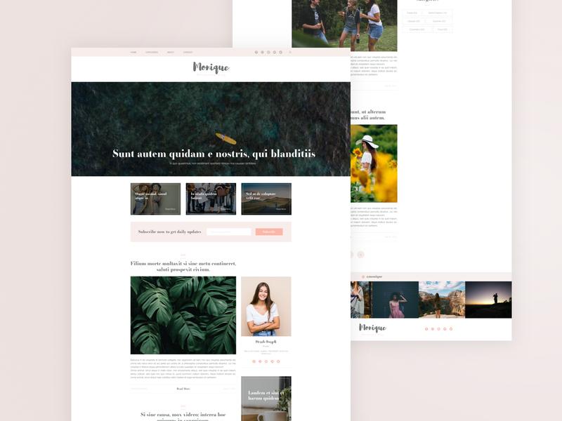 Monique Blog webdesign website design blog design blogging blog clean minimal ux web ui