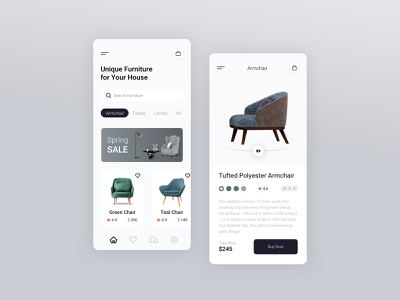 Furniture App clean app design design furniture design furniture app furniture app ux ui