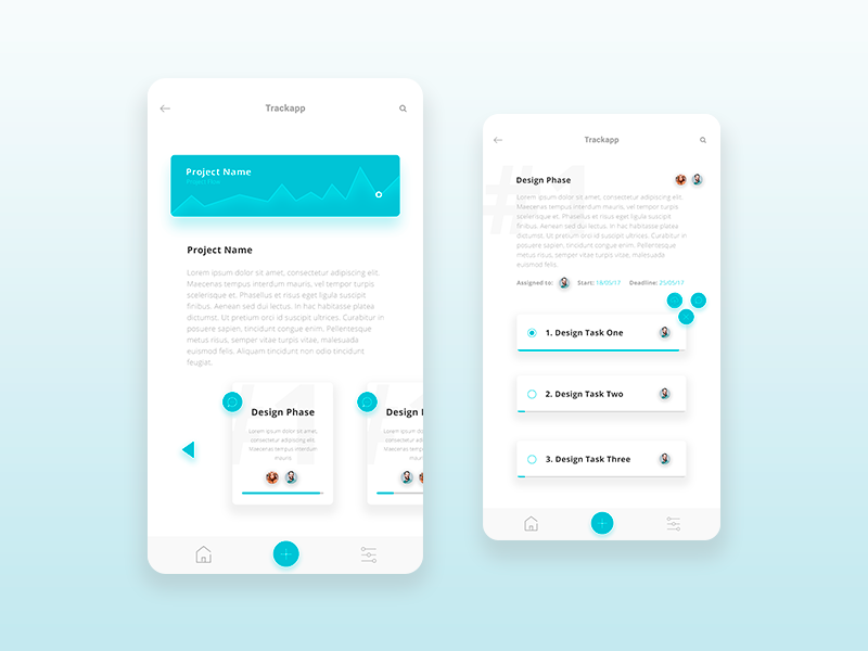 """Trackapp"" Project Management App Concept  projectmanagmentapp concept ui app"