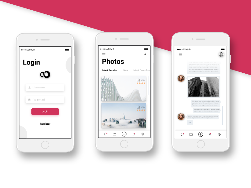 Photo Sharing Social App ios minimal share photo design experience user mobile app ui
