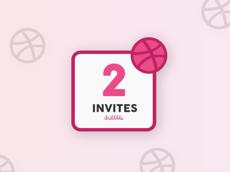 x2 Dribbble Invites design invitation designer new invite dribbble