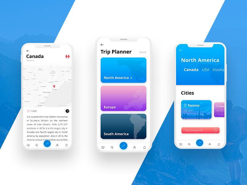 Tripster App travelapp ios design experience user mobile app ui