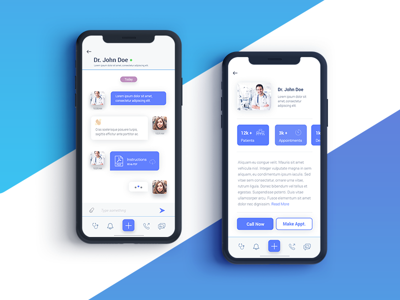 """""""DC-App"""" Doctor's Chat App chat doctorchat ios clean ux ui app"""