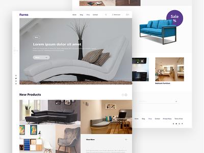 """""""Furno."""" Landing Page shop furniture clean web website ux ui landingpage landing"""
