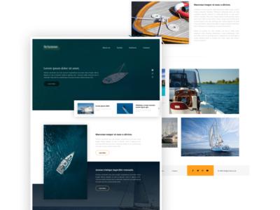 """""""Yacht"""" landing page landingpage onepage minimal clean landing design website web ux ui"""