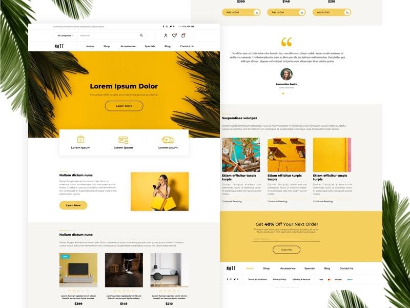 E-commerce Landing Page webdesign design blog ux minimal website landing clean web ui
