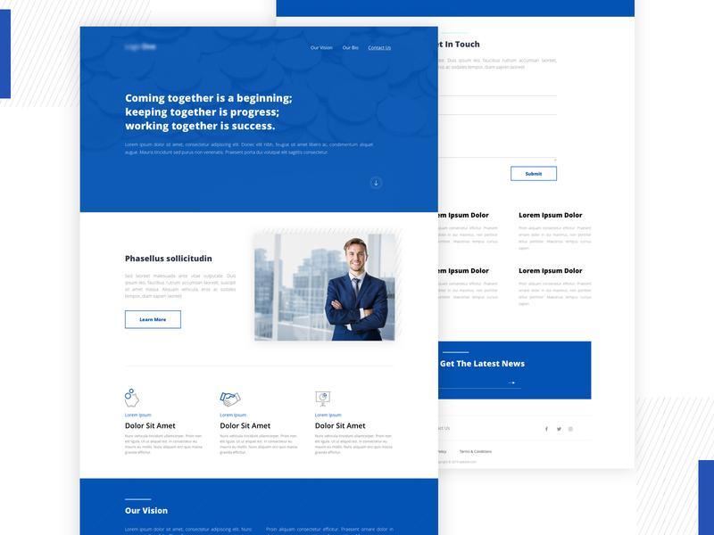 FInance Landing Page finance onepage clean webdesign landingpage design website landing ux web ui