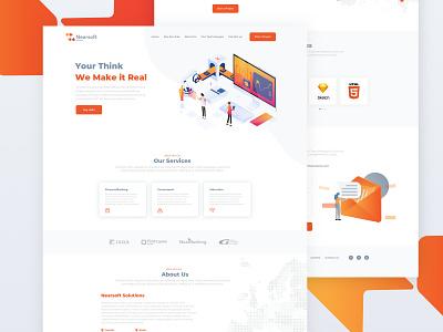 Nearsoft Landing Page onepage landingpage minimal ux design website landing clean web ui