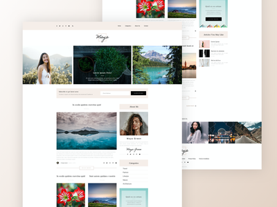 Maya Theme Front Page blog webdesign minimal design website clean web ux ui