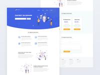 Chatcircle Landing Page webdesign onepage landingpage design website landing clean web ux ui