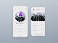 Neumorphism Music App neumorphism skeumorphism music app app ux ui