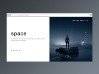 Minimal website design for Space Creative Collective
