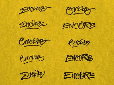 Encore - Lettering Sketches graphicdesign letters sketch lettering logo handmade logo brushpen calligraphy type lettering typography