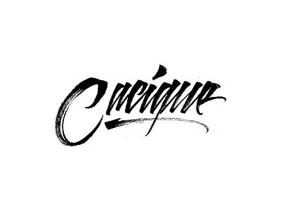 Cacique - Brush Lettering logo music lettering logo letters brushpen calligraphy type lettering typography