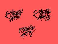 Estudio Artis - Logo Options lettering logo handmade logo brushpen calligraphy type lettering typography