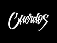 Cuerdos Lettering - WIP (Feedback appreciated!) vector calligraphy wip lettering