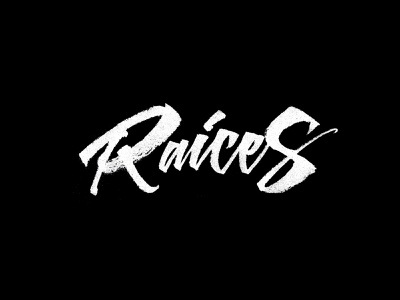 Raices Cloth lettering logo handmade brushpen calligraphy typography lettering