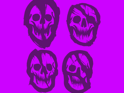 Skulls Sketches skull sketchbook sketch handmade brushpen illustration