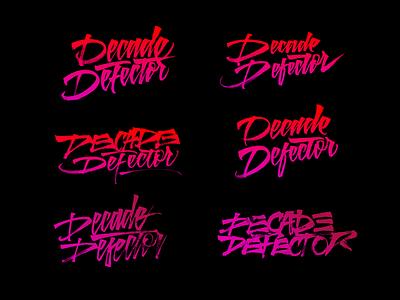 Decade Defector lettering logo branding music lettering logo calligraphy typography