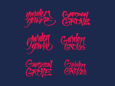 Graden Grove Festival calligraphy logo illustration lettering logo festival sketch music calligraphy handmade logo lettering typography