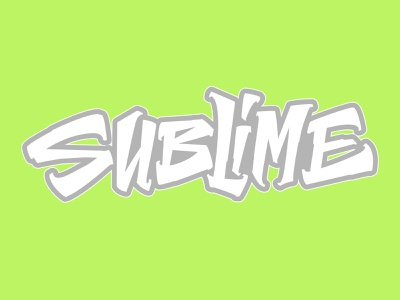 Sublime Lettering vector type handmade letters lettering typography