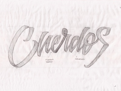 Cuerdos skateboarding streetwear apparel sketch t-shirt letters handmade lettering logo type typography lettering