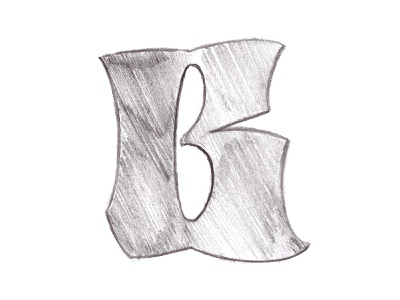 B sketch letters branding handmade 36daysoftype sketch type typography modern gothic ghotic lettering