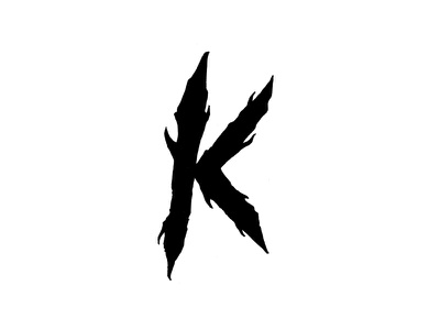 Infected K capital letter initial death metal letters type typography lettering