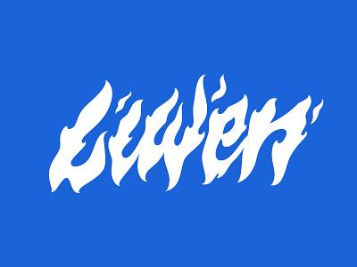 LIWEN tshirt fire lettering illustrated skateboarding streetwear apparel vector branding illustration letters type typography lettering