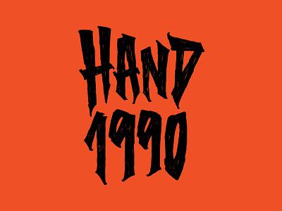 Hand.1990 hardcore streetwear wood texture lettering art trash type typography lettering