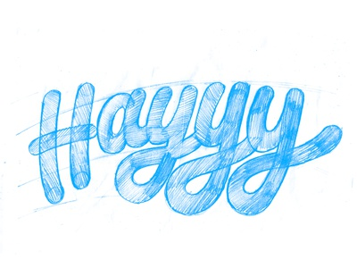 Hayyy Sketch script process sketch typography lettering