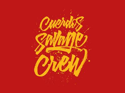 Cuerdos SC - T-Shirt Design typography streetwear script graffiti brushpen illustration graphic design calligraphy lettering
